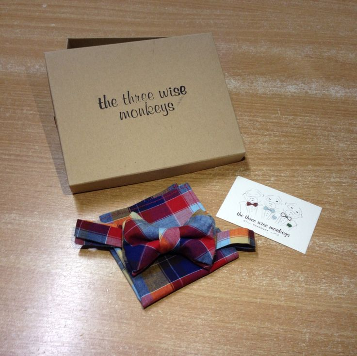 Bow tie and pocket square for our little men!!!