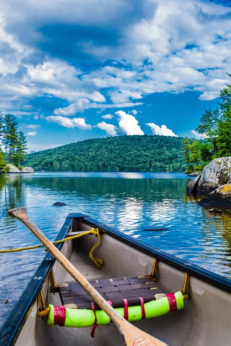 For a true Canadian feel, take to the Quebec lakes in a canoe