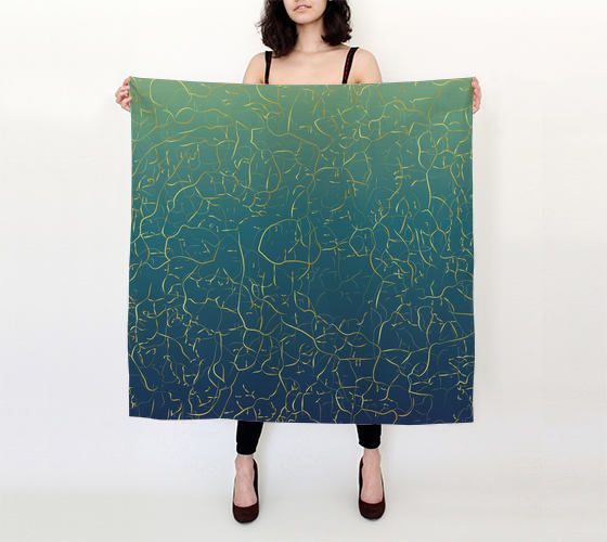 Silk square scarf,printed floral scarf,pure silk scarf, abstract scarf,art scarf,silk shawl,designer scarf,cover-up,gift for her,turquoise by OkopipiDesign on Etsy