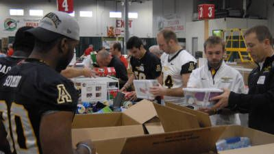 Appalachian State Football Spreads Holiday Cheer - SoConSports.com—Official Web Site of The Southern Conference