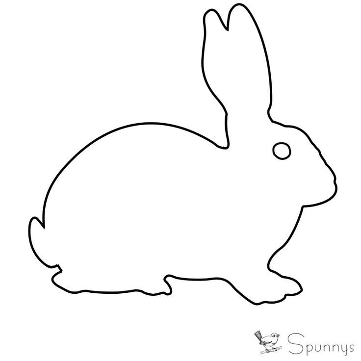 bunny ornament outline