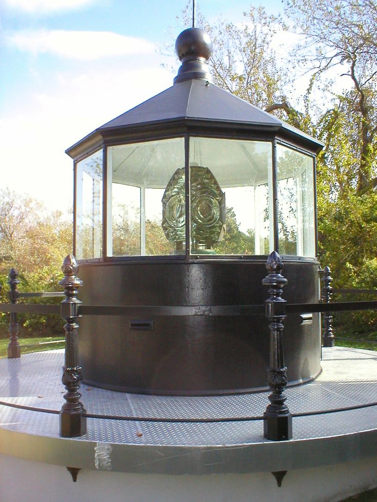 The Turret at Atwood House Museum, Chatham, MA.  The old lantern room and its Fresnel lens were donated to the Chatham Historical Society. The relocation to the grounds of the Atwood House Museum was made possible by the daughters of Mrs. Fannie Lewis Shattuck, a supporter of the society from its beginning. #chathamhistoricalsociety, #atwoodhouse, #chatham, #fresnel, #lighthouse