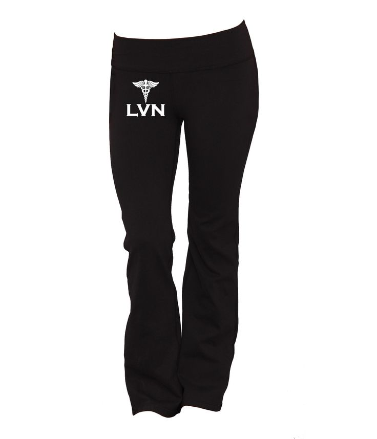 Let the world know being a nurse rocks and put on the world's most stylish LVN yoga pants! 100% Satisfaction Guaranteed - If you're not absolutely satisfied with your purchase, we'll take it back!