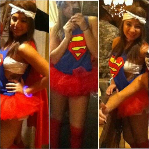 Halloween costume woman adult diy homemade superman girly ...