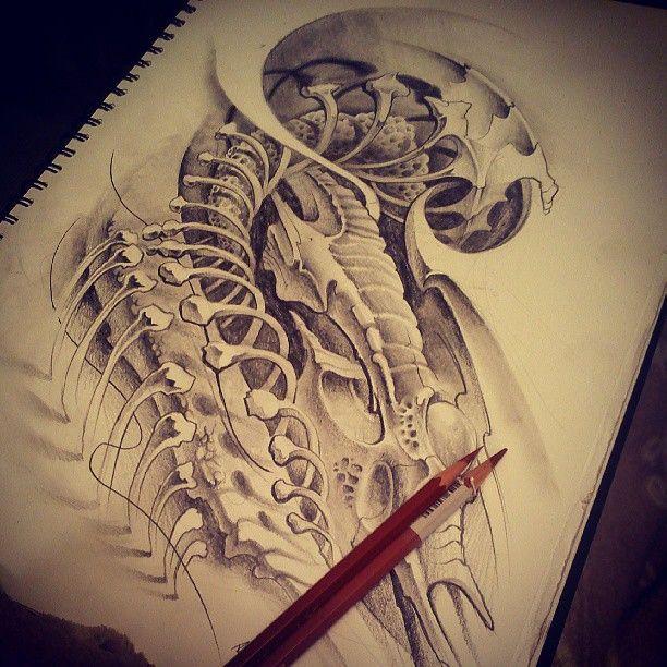 biomechanical giger tattoo - photo #49