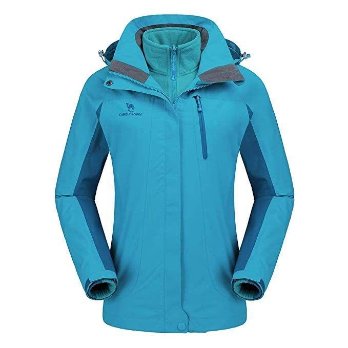 a042f8d0 CAMEL CROWN Women's Ski Waterproof Jacket Fleece Inner Rain Winter ...