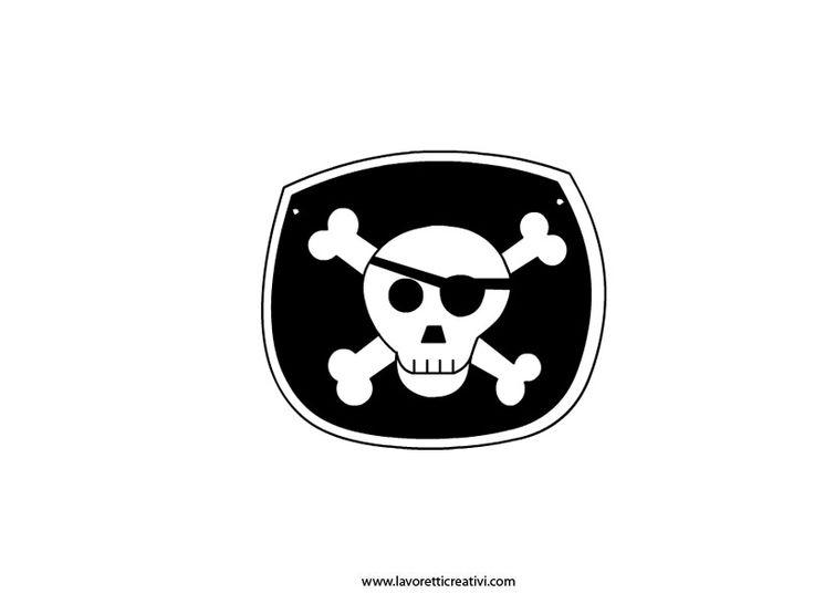 Sagoma spada, pistola e uncino pirata