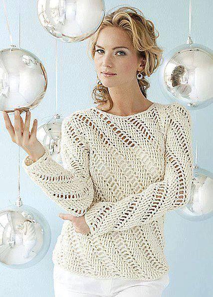 Long Sleve Lace Crocheted Sweater. Juvenil tejido al crochet / moldes y patrones | Crochet y Dos agujas
