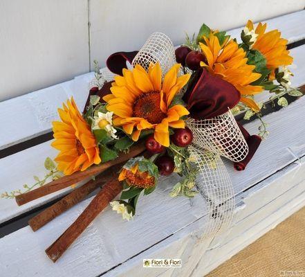 Decorazione fiori artificiali girasoli winter 18,50