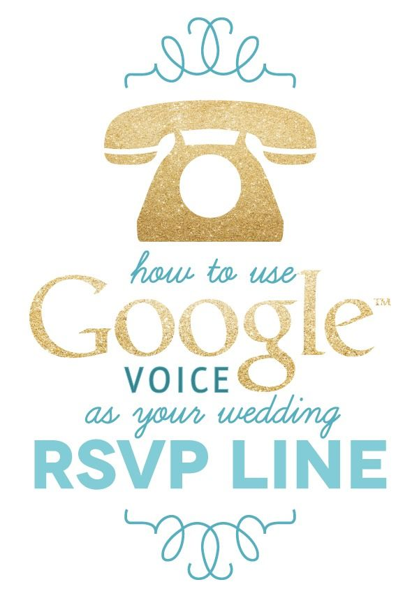 create your own wedding rsvp line using google voice a With wedding invitation rsvp phone number