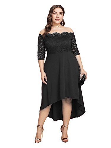 459c356a577 The perfect GMHO GMHO Women s Plus Size Floral Lace Off-The-Shoulder  Cocktail Formal Swing Dress Women s Fashion Clothing online.