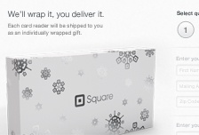 I like how Square's logo makes snowflakes for the holiday season