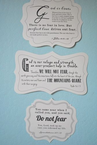 Do not be afraid: free printable Bible verses.