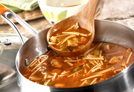 Spaghetti Soup - This easy-to-make, heart-warming soup is as fun to eat as it is good - try it and you'll see what we mean.
