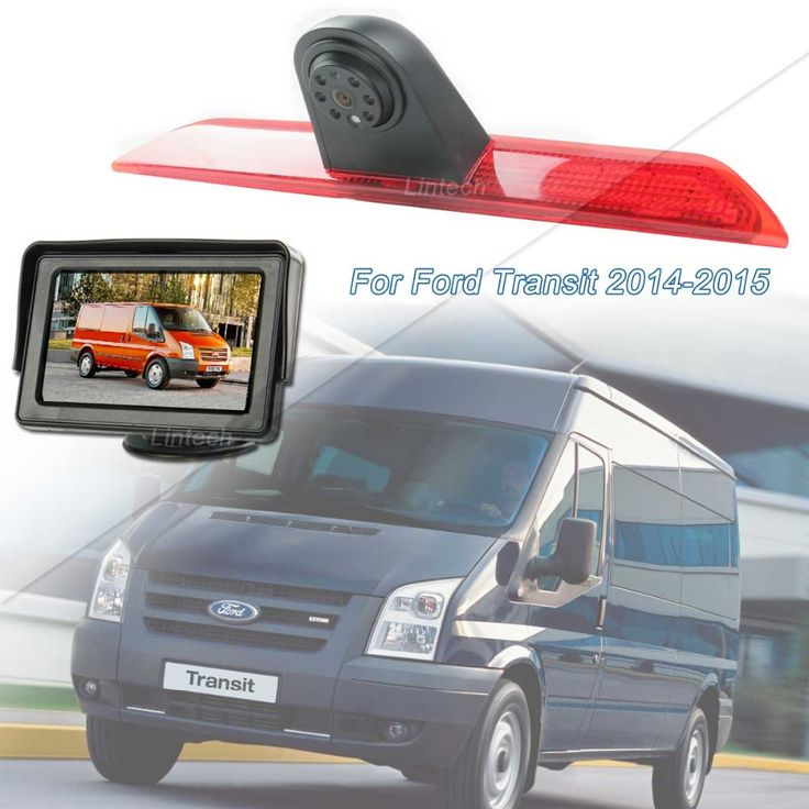 Free Shipping 4.3 inch Mini Monitor Brake lights Backup Camera system kit for Ford Transit 2014~2015