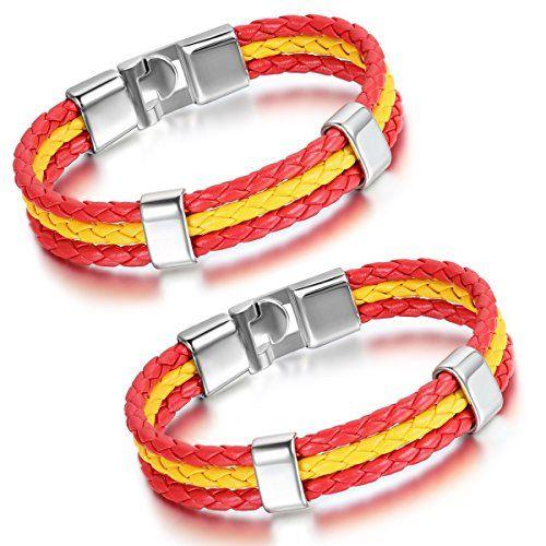 Aroncent Spanien Flagge Armband Lederarmband Kordelarmban... https://www.amazon.de/dp/B01H1P3PCG/ref=cm_sw_r_pi_dp_gAgKxbDG5G1E4