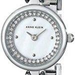 Anne Klein Women's AK/1689MPSV Swarovski Crystal-Accented Silver-Tone Bangle Watch