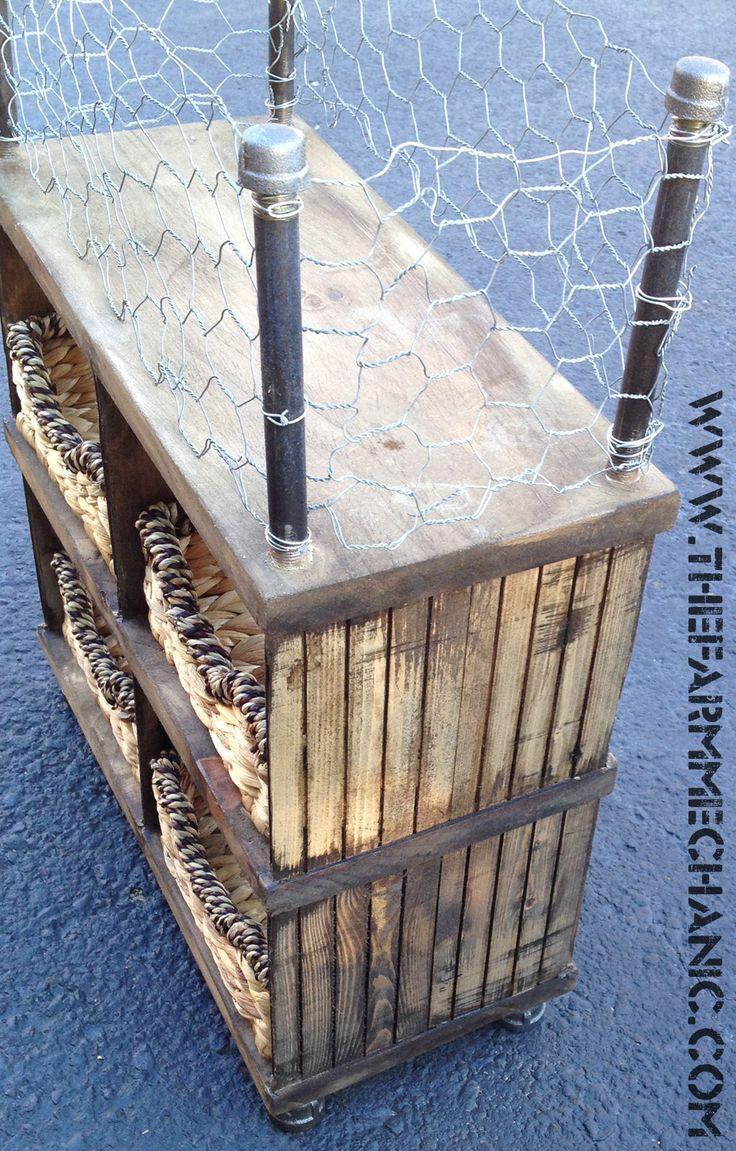Inspiration Web Design Rustic Bathroom Organizer by The Farm Mechanic
