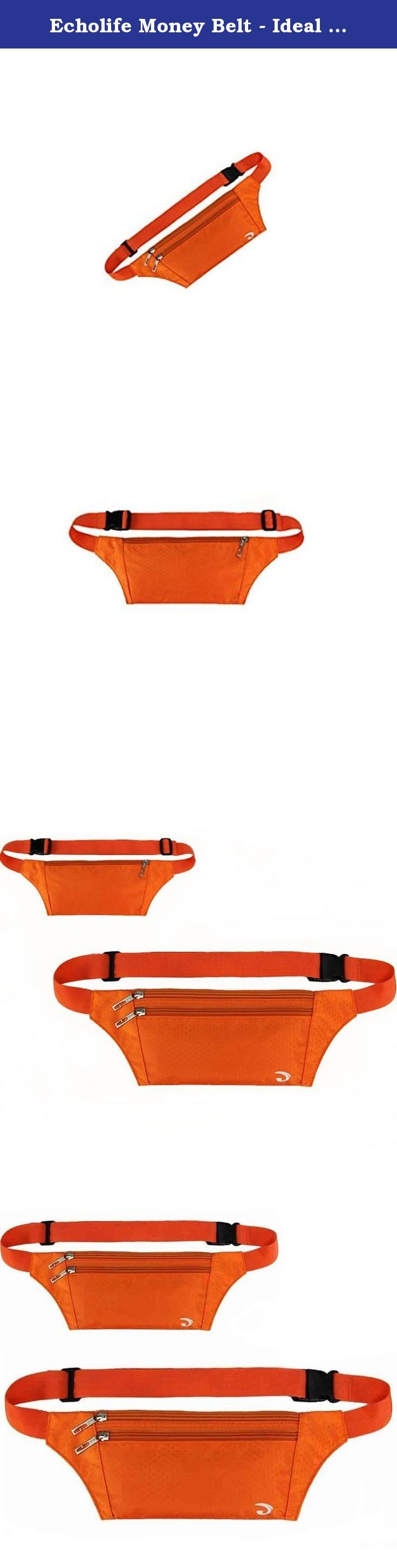 Echolife Money Belt - Ideal Travel Waist Bag For Carrying Money, Mobile Phone,Passport, Credit Cards And I.D, Adjustable Strap,Side Clip, Washable(2 Pack) (Orange+Orange). Simple Design Makes Travelling That Whole Lot Safer We all have reservations of being abroad and carrying money in our wallets, especially with the vast amount of pickpocketing that naturally occurs in any tourist trap. Having peace of mind knowing that your money, passport or credit cards are safe can be a huge burden...