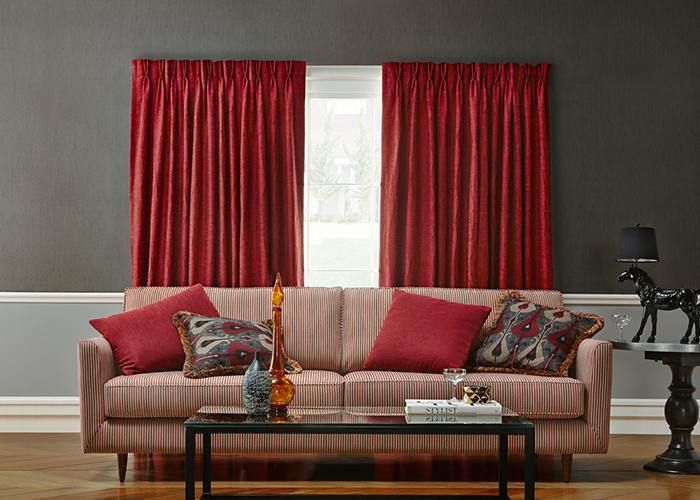 Double Pleated curtains can achieve a contemporary feel, whilst maintaining fabric efficiency.