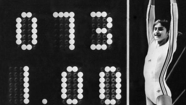 Olympic Moments: #Comaneci's perfect 10 at Montreal 1976