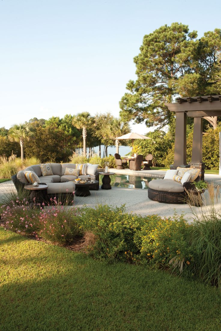 Bringing comfort to the great outdoors! http://hauserstores.com/collections/outdoor-sectionals