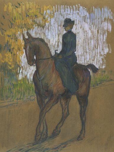 Henri De Toulouse-Lautrec   side saddle 1899 amazone henri de toulouse lautrec 1864 1901
