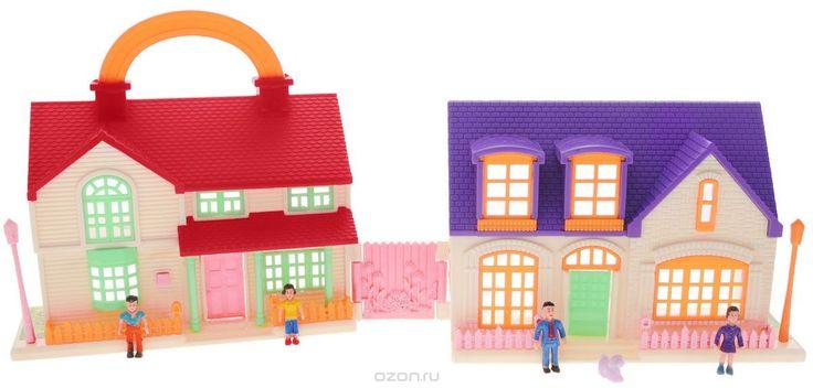 ABtoys Дом для кукол В гостях у куклы цвет фиолетовый белый