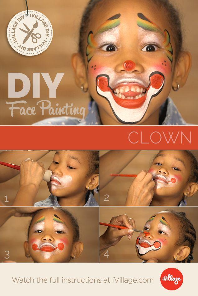 No Joke! How to Do Clown Face Paint for Kids! http://www.ivillage.com/clown-face-paint-kids/6-a-548969