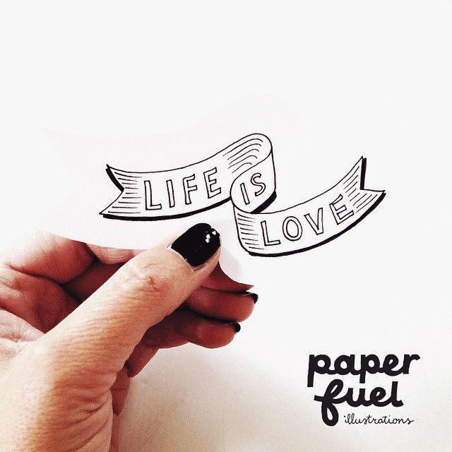 Life is love #lettering #drawing #paperfuel