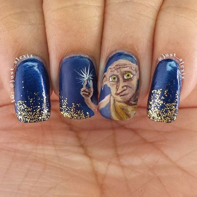 Photo 19 / 20 : Harry Potter Nail Art