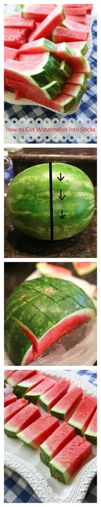 How to Cut A Watermelon Into Sticks | The Girl Who Ate Everything