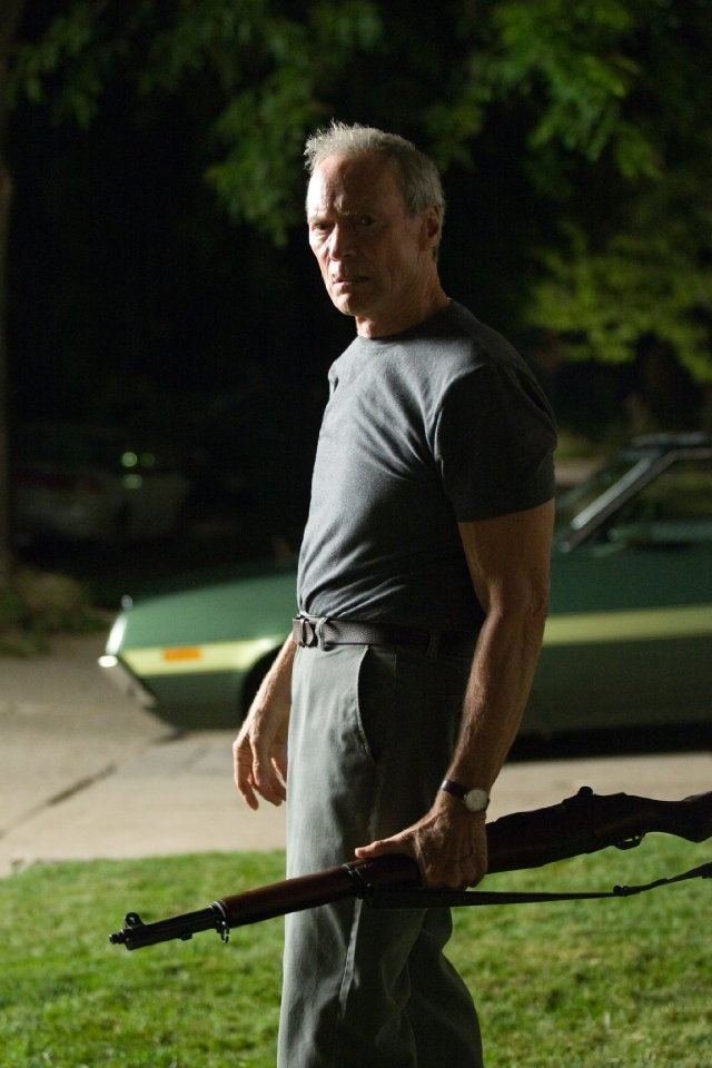 "Clint Eastwood in Gran Torino : ""I've been called a lot of things, but never funny."""