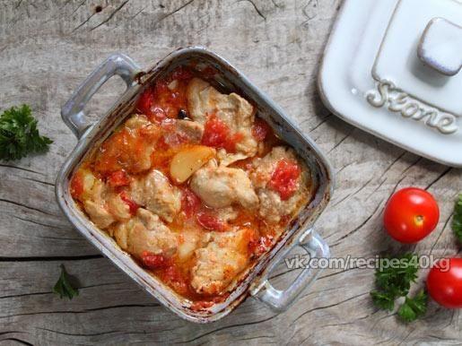 Куриное филе с горчицей и помидорами / Западло