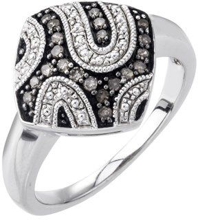 Ax Jewelry Champagne Diamond Ring In Sterling Silver (0.20 Carats).