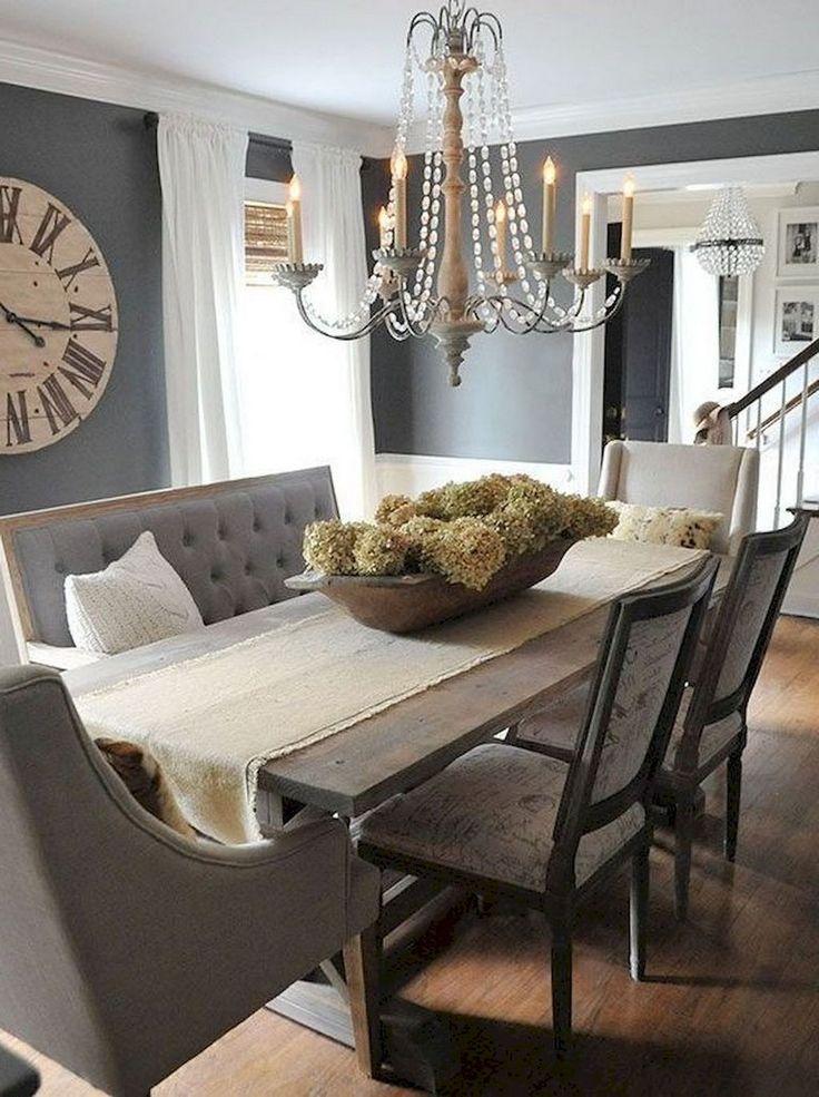 46 Popular Farmhouse Dining Room Design Ideas Trend 2019: 118 BEST MODERN FARMHOUSE LIVING ROOM DECOR IDEAS