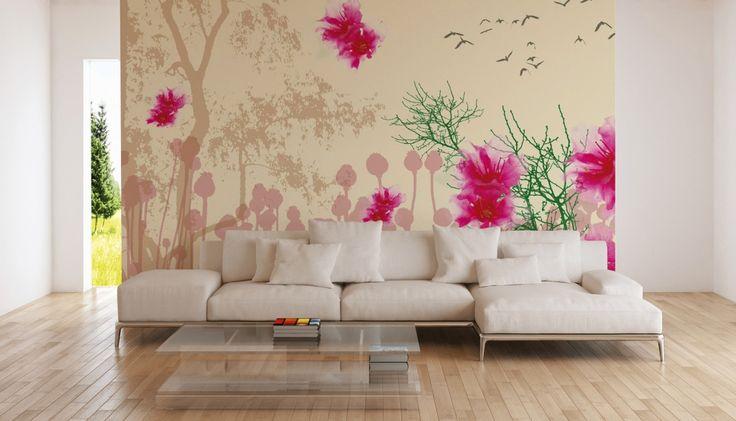 25 melhores ideias de fototapete blumen no pinterest. Black Bedroom Furniture Sets. Home Design Ideas
