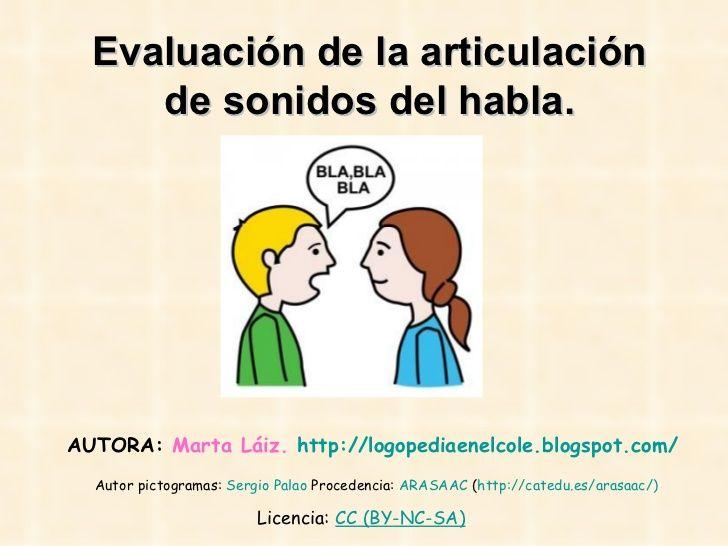 Articulación by logopediaenelcole via slideshare