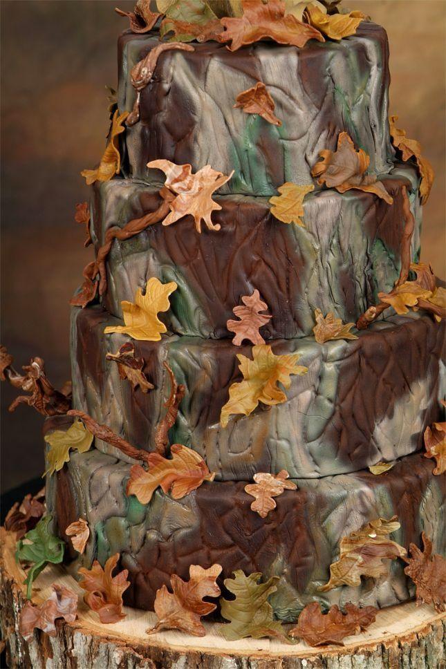 camouflage baby shower   Camo Baby Shower Cake (trim w/hunter orange and ...   Baby shower ide ...