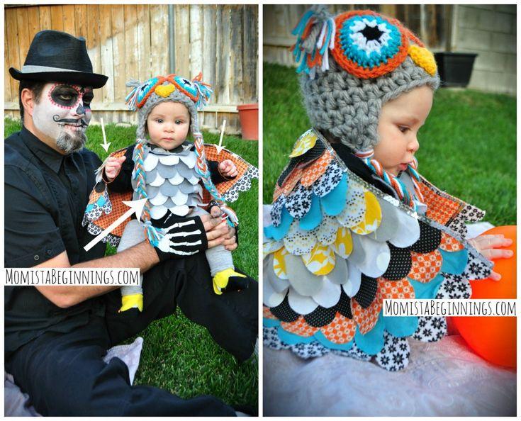 Owl Collage Halloween Costume Baby