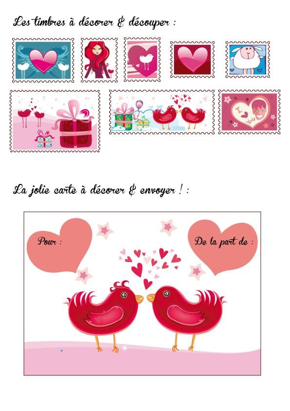 carte saint valentin by natacha birds valentine day. Black Bedroom Furniture Sets. Home Design Ideas