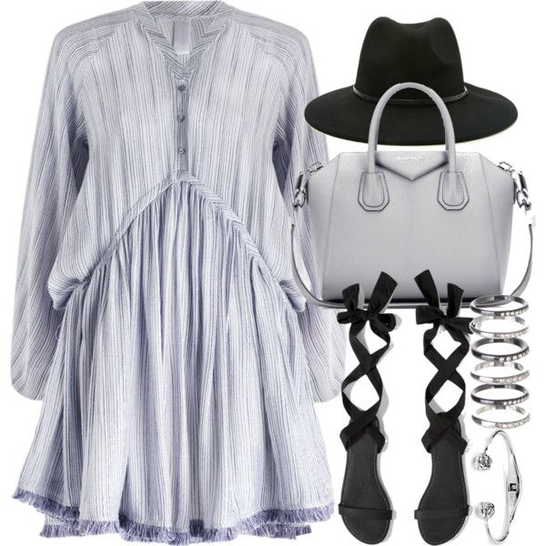 A fashion look from February 2016 featuring Zimmermann dresses, Abercrombie & Fitch sandals and Givenchy tote bags. Browse and shop related looks.