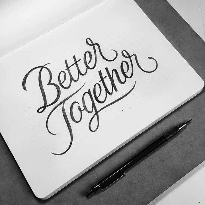 Make sure you are following @todays_type @todays_type @todays_type for more of the best inspiration. | Better Together via @osmontoyam #typematters by type_matters