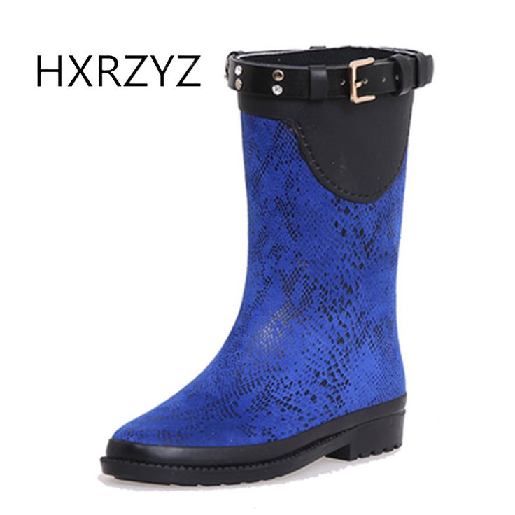 Spring and autumn shoes women new Fashion design women Rain Boots female Buckle Slip-Resistant Waterproof rubber boots for women #Affiliate