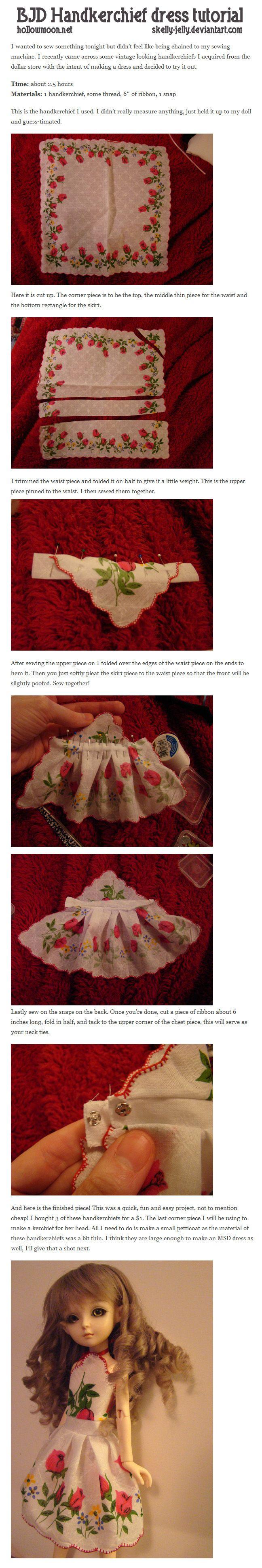 BJD Handkerchief dress tutorial by skelly-jelly on deviantART