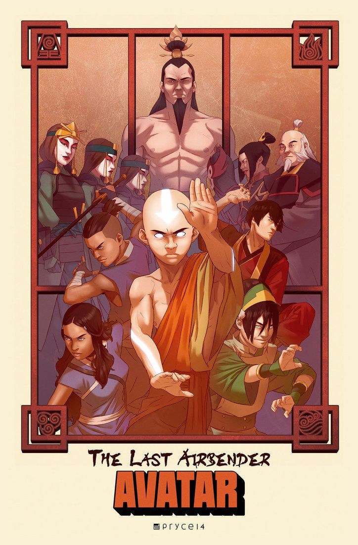 Avatar poster, getting ready for Anime North. Started off as just a Team Avatar pic, and grew into posters for both TLA and LOK inspired by the Enter the Dragon movie poster. Legend of Korra