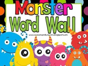 Monster Word Wall includes Header, A to Z labels and 230+ words to put on word wall.  The words included are from the Dolch List pre-primer to 3rd grade.  I also included, number words, months, days, seasons and colors.  This set also has consonant labels for ch, th, wh and sh.