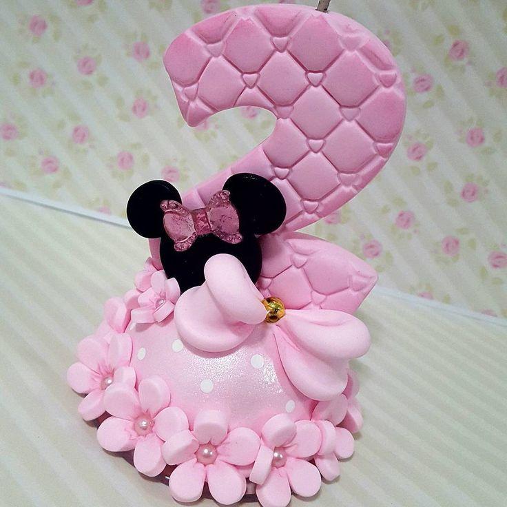 Velinha Minnie rosa  #biscuit #porcelanafria #artesanato #feitoamao #velaminie#veladecorada #velinhadebiscuit #velaaniversario #minnie#minnierosa #festaminnie