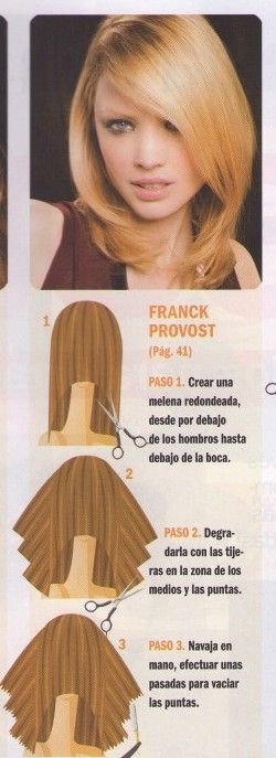 Corte de pelo medio en capas paso a paso