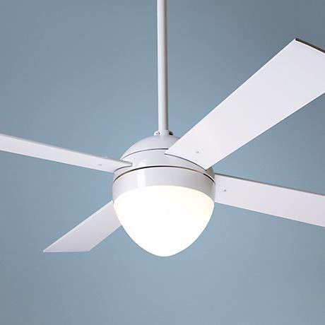 "42"" Modern Fan Gloss White Ball Light Kit Ceiling Fan"
